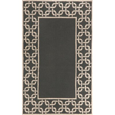 Liora Manne Spello Chain Border Midnight Outdoor Rug
