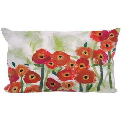 Liora Manne Poppies Rectangle Indoor/Outdoor Pillow