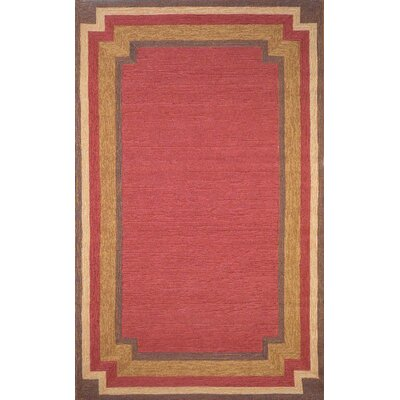 Liora Manne Red Multi Border Rug
