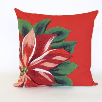 Liora Manne Visions II Poinsettia Pillow