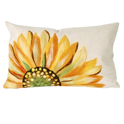 Liora Manne Sunflower Rectangle Indoor/Outdoor Pillow