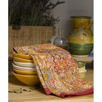 Couleur Nature Jardine Red Yellow Tea Towel (Set of 3)