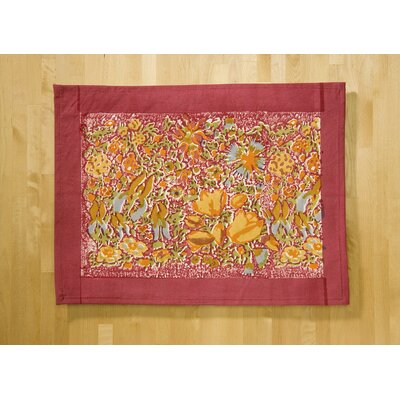Jardine Red Yellow Placemat (Set of 6)