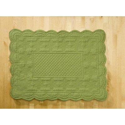 Couleur Nature Sonia Green Placemat (Set of 6)