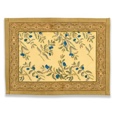 Couleur Nature Olive Tree Gold Blue Placemat (Set of 6)