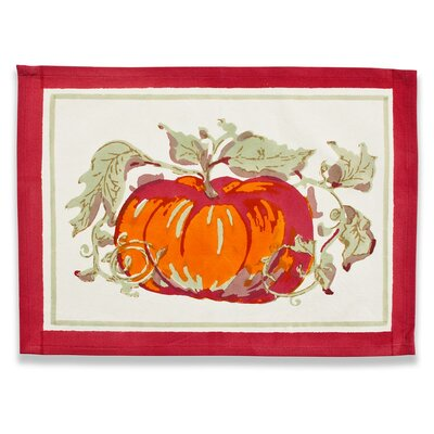 Pumpkin Red Green Placemat (Set of 6)