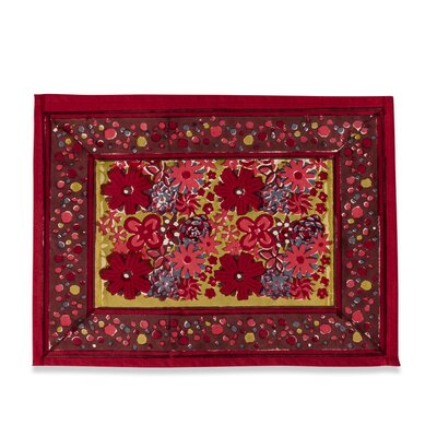 Couleur Nature Candy Flower Placemat and Napkin Set