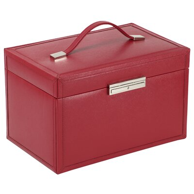 Queen's Court Large Jewelry Case in Crimson