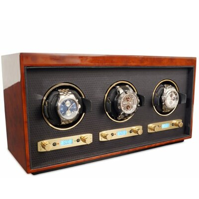 Wolf Designs Meridian Triple Watch Box