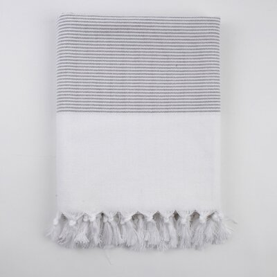 Nine Space Ayrika Thin Stripe Fouta Towel in Gray