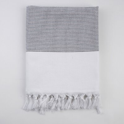 Nine Space Ayrika Thin Stripe Fouta Towel in Black