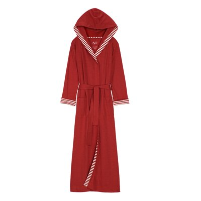 Nine Space Trim Jersey Knit Bath Robe