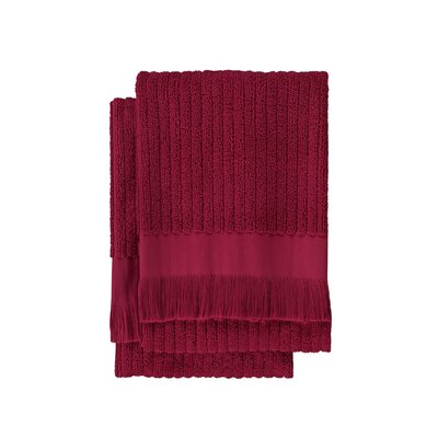 Ribbed 2 Piece Hand Towel Set