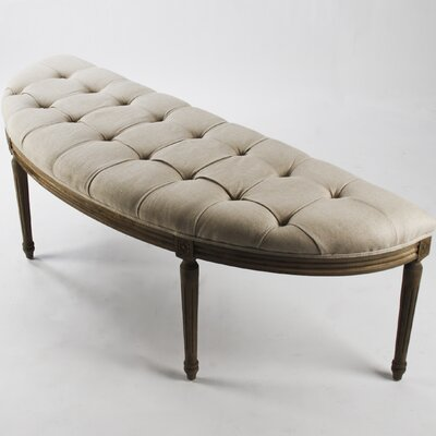 Zentique Inc. Louis Curve Upholstered Bench