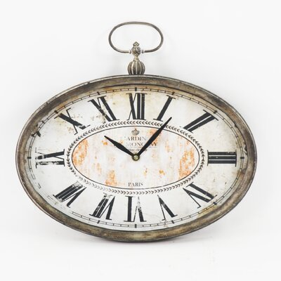 Zentique Inc. Paris Vintage Oval Clock