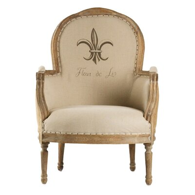 Zentique Inc. Lance Burlap Fabric Arm Chair