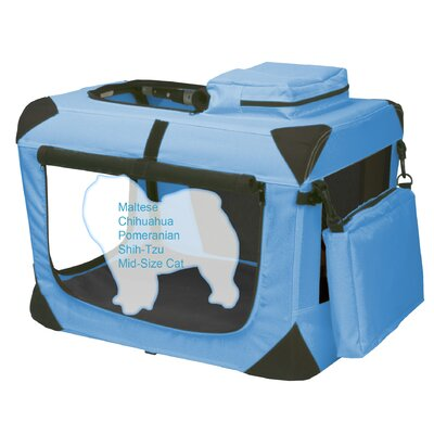 Pet Gear Generation II Deluxe Portable Soft Dog Crate in Ocean Blue - Extra-Small