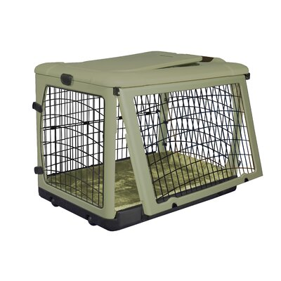Pet Gear Deluxe Steel Dog Crate in Sage