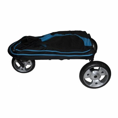 Pet Gear Roadster Pet Stroller in Black / Blue