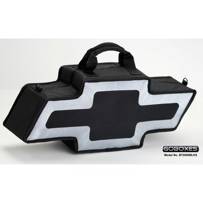 "Go Boxes LLC 25"" Bowtie Shaped Canvas Bag in Black with A Silver Border"