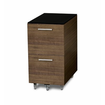 BDI USA Sequel Two Drawer Tall Mobile File Pedestal