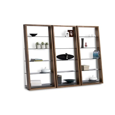 "BDI Eileen 75"" Leaning Shelf Bookcase"