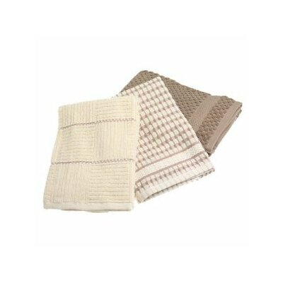 Bardwil Tablecloths Bardwil Popcorn Kitchen Towel in Taupe (Set of 3)