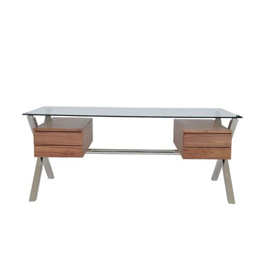 Pangea Home Ella 4 Drawer Writing Desk