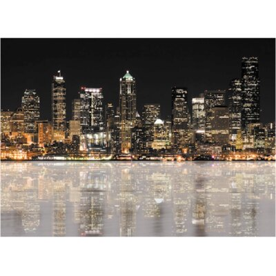 Reflective City Canvas Art