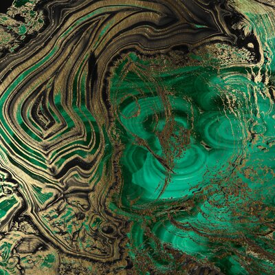 JORDAN CARLYLE Abstract Malachite Framed Graphic Art