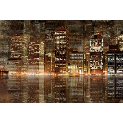 JORDAN CARLYLE Architecture Night Vision Framed Graphic Art