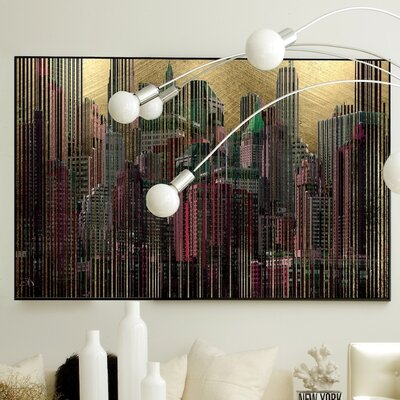 Architecture Golden City #2 Framed Graphic Art