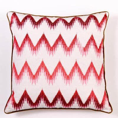 Ikat and Suzani All Flame Stitch Pillow