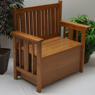 Alco Furniture International Mission Wooden Entryway Storage Bench