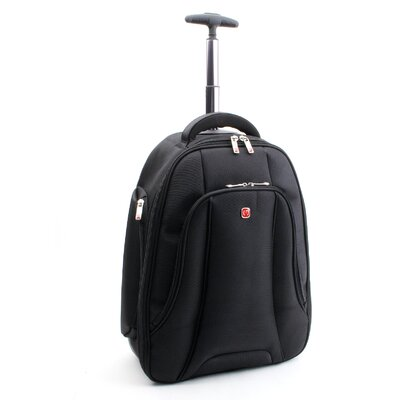 "Merax Fly Over Rolling 15.4"" Laptop Backpack in Black"
