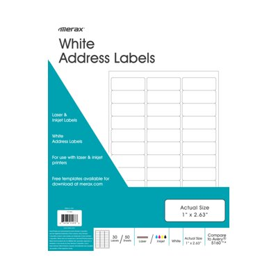 Merax Address Labels (Set of 50)