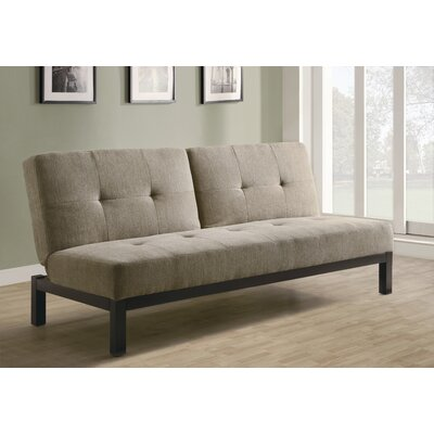 Monarch Specialties Inc. Velvet Fabric Sleeper Sofa