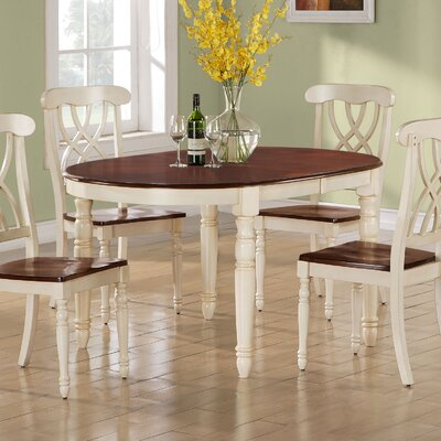 Monarch Specialties Inc Round Dining Table In Distressed Antique