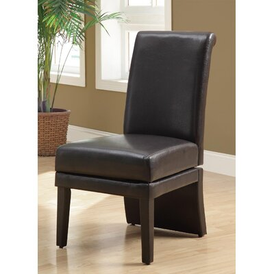 Swivel Leather Parson Chair