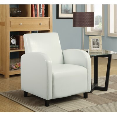 Monarch Specialties Inc. Leather-Look Arm Chair