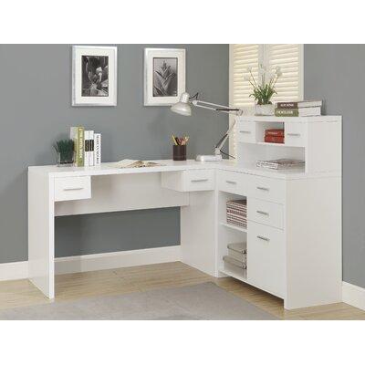 monarch specialties inc clarendon corner desk with hutch reviews wayfair. Black Bedroom Furniture Sets. Home Design Ideas