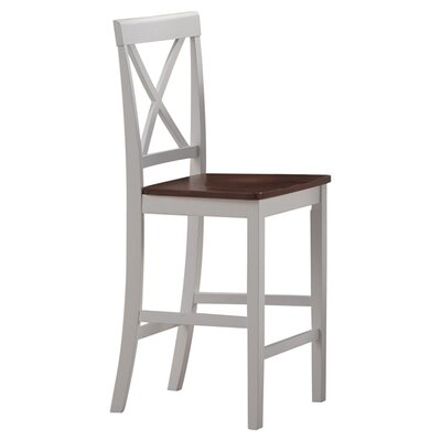 monarch specialties inc counter height bar stools in white and walnut