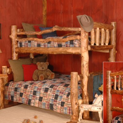 Timber Designs Silver Creek Twin over Full Bunk Bed with Built-In Ladder