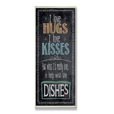 Home Décor I Love Help with the Dishes Kitchen Wall Plaque