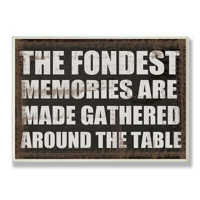 Home Décor The Fondest Memories Kitchen Wall Plaque