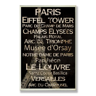 Paris New York and London Cities and Words Home Office Wall Plaque (Set of 3) ...
