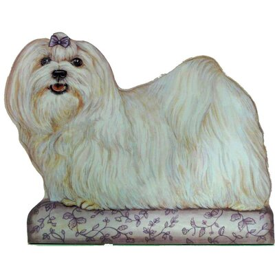 Stupell Industries Maltese Wooden Decorative Dog Doorstop