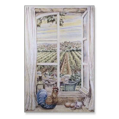 Stupell Industries French Country Wooden Faux Window Scene