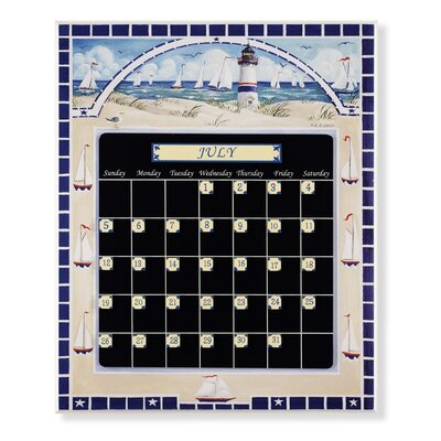 Stupell Industries Lighthouse Magnetic Tile Perpetual Calendar
