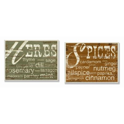 Stupell Industries Herbs and Spices Kitchen Wall Plaques | Wayfair